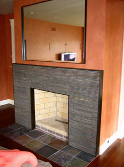 Branz Fireplace & Mirror