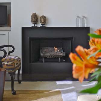 Asymmetrically Balanced Fireplace
