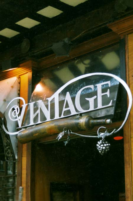 Vintage Wine Bar Sign & Canopy