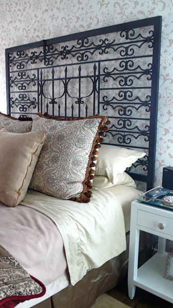 Repurposed Headboard from Two Old Gates at Froy's