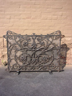 Cast Iron Grill into Firaplace Screen